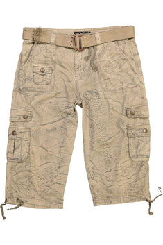 X-Ray Jeans Khaki Green Industrial Short
