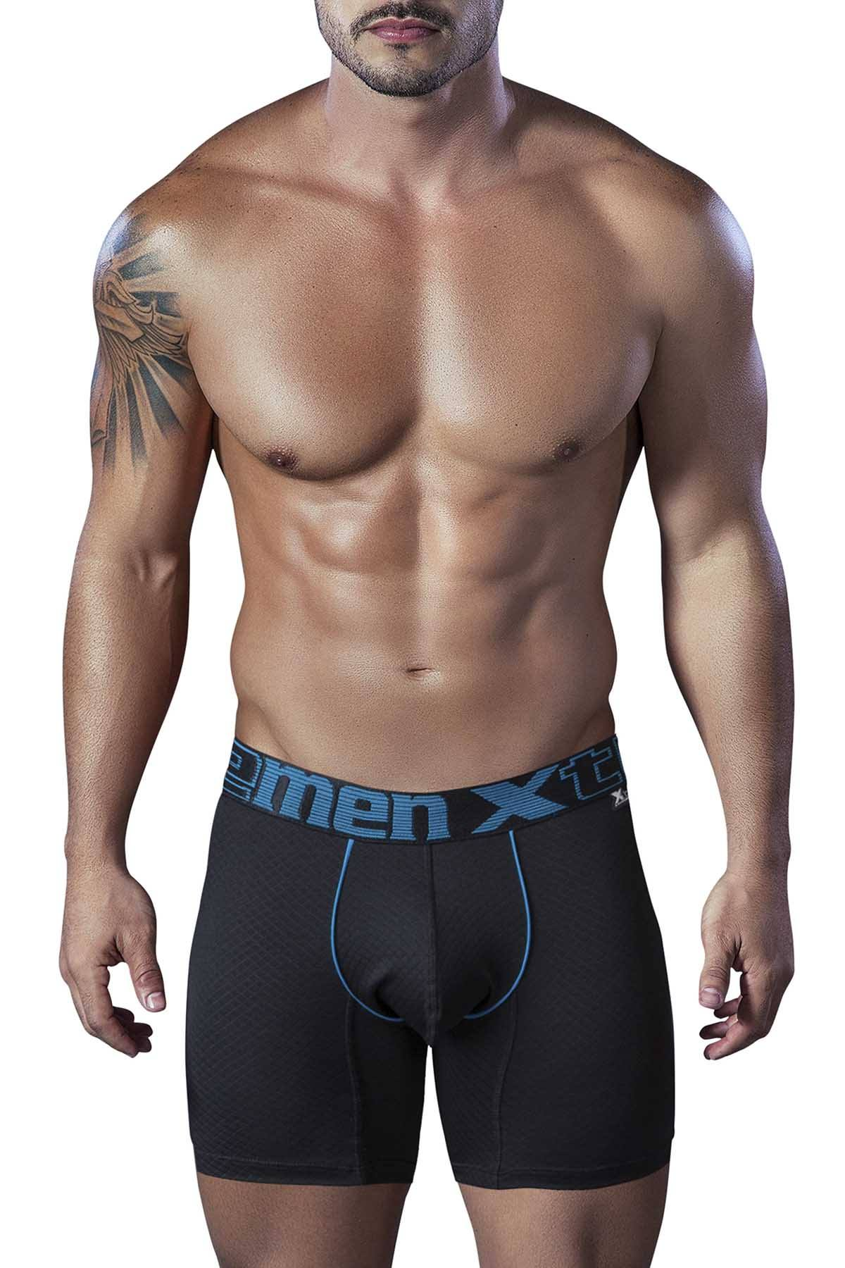 XTREMEN Black Microfiber Breathable Boxer Brief