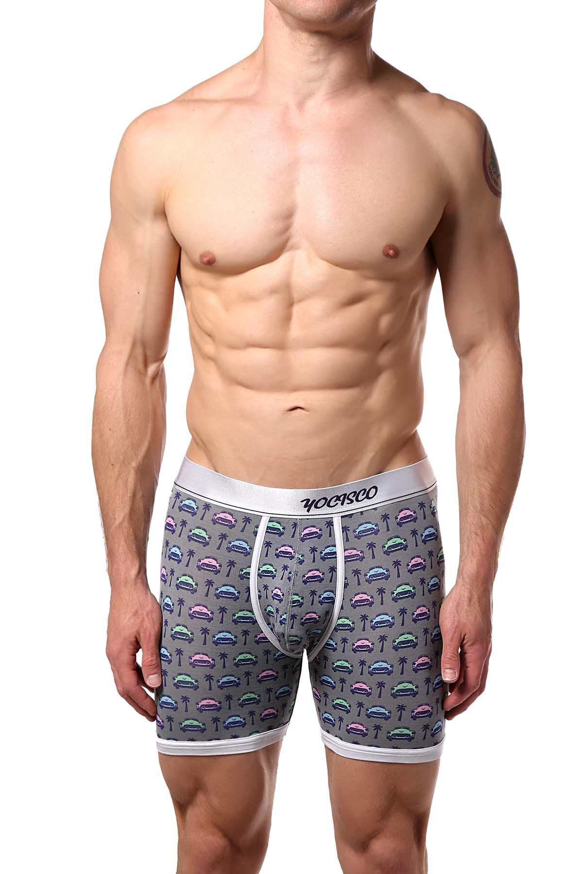 YOCISCO Grey La Havana Bamboo Boxer Brief