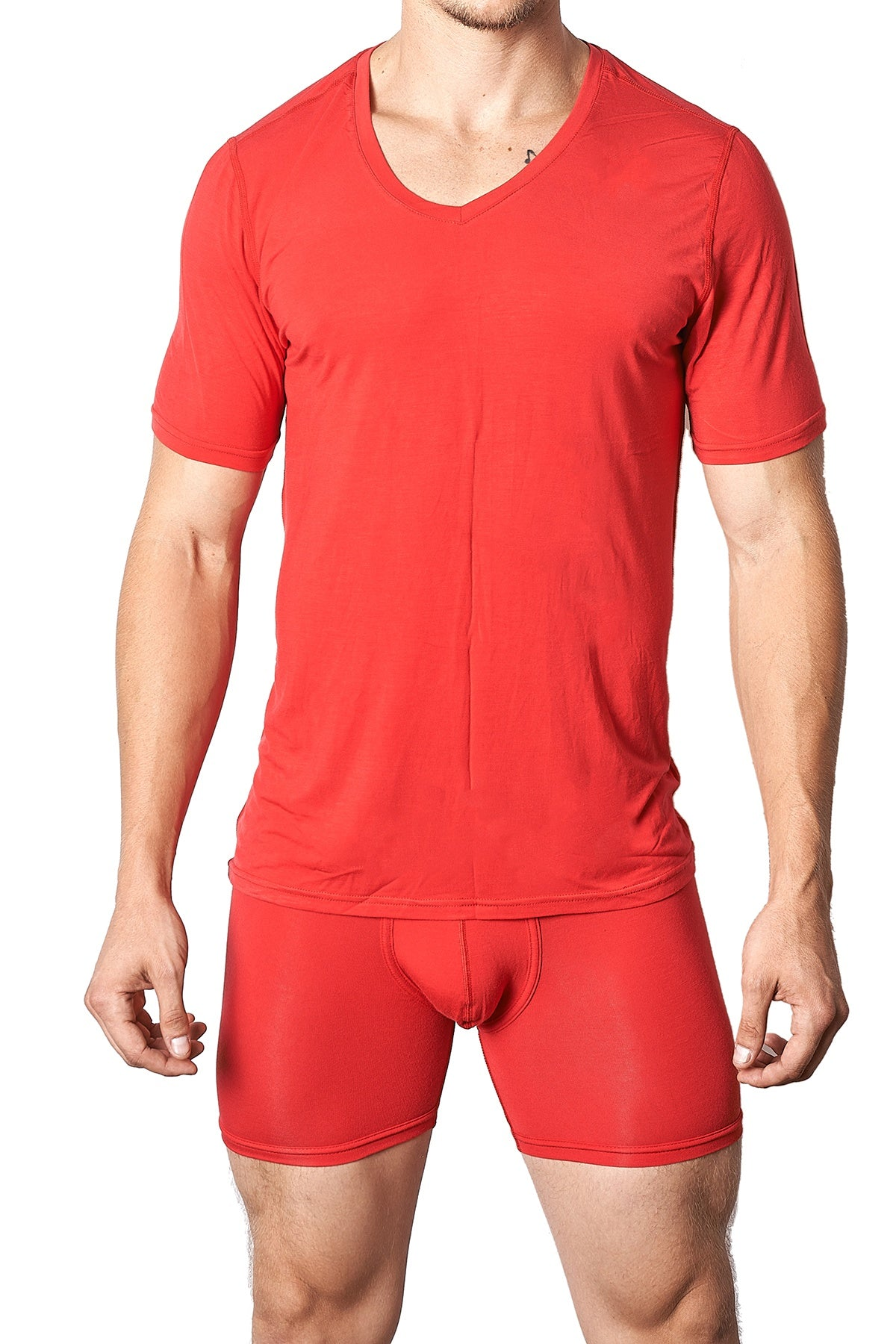Yocisco's Red Essentials V-Neck Shirt