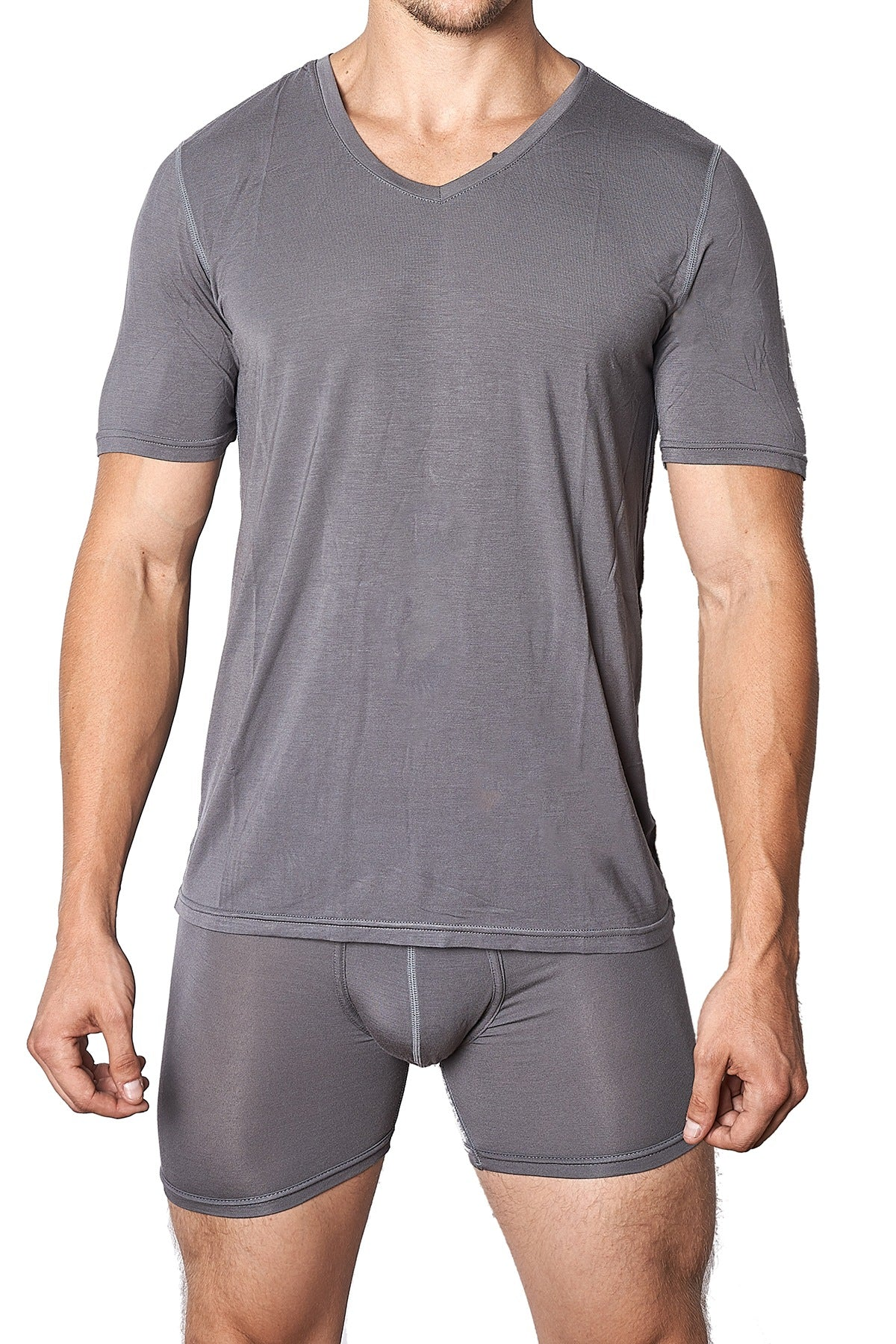 Yocisco's Slate Essentials V-Neck Shirt