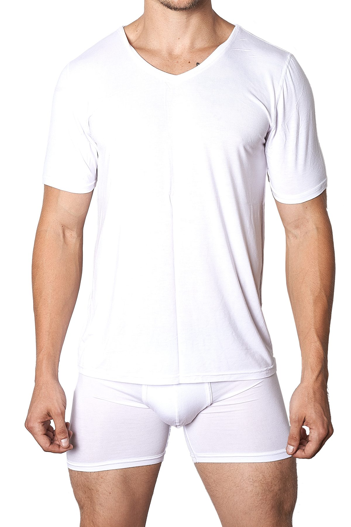 Yocisco's White Essentials V-Neck Shirt