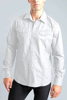 Young Republic White Austin Long-Sleeve Button-Up