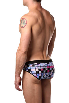 JustinCase Pink/Blue Square Style Brief