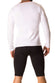 Jor White Logo Long Sleeve T-Shirt - CheapUndies.com