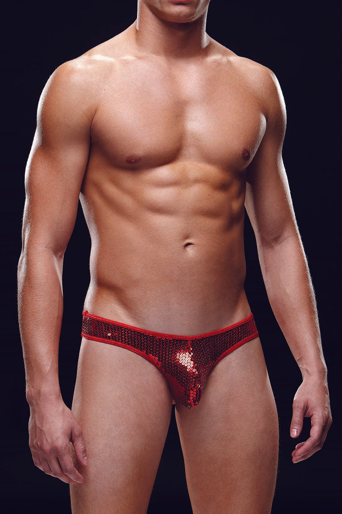 Envy Red Sequin Low Rise Thong