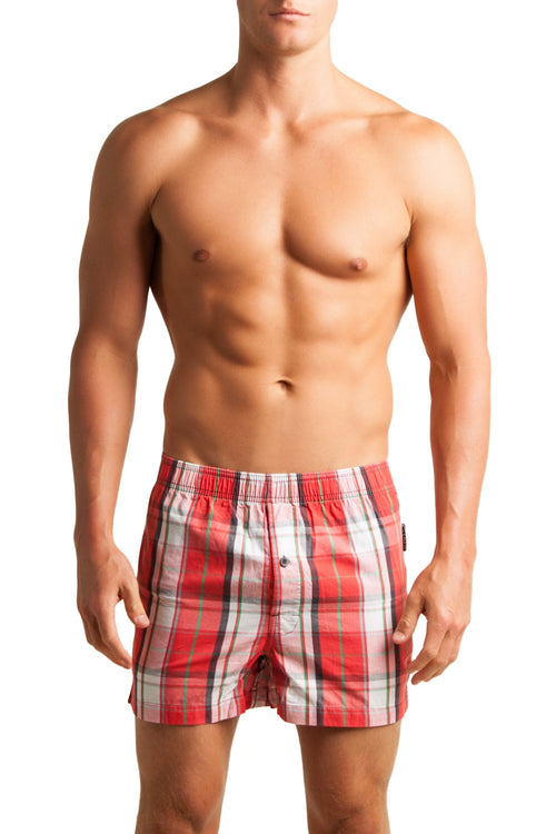 C-IN2 Remix Red Woven Plaid Boxer - CheapUndies.com