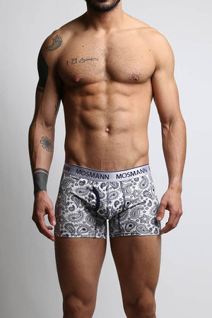2-Pack Mosmann Dark Blue & Navy Paisley Boxer Brief