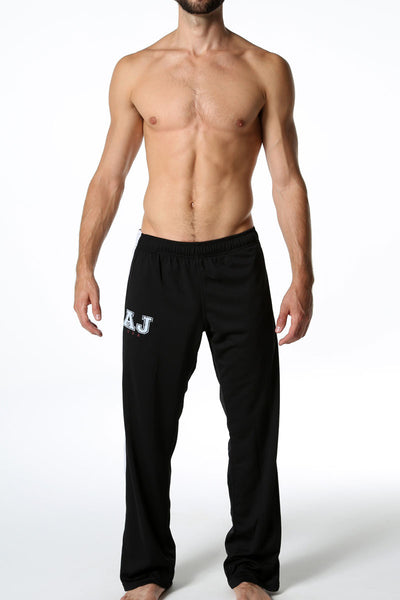 American Jock Black & White Warm-Up Pant - CheapUndies.com