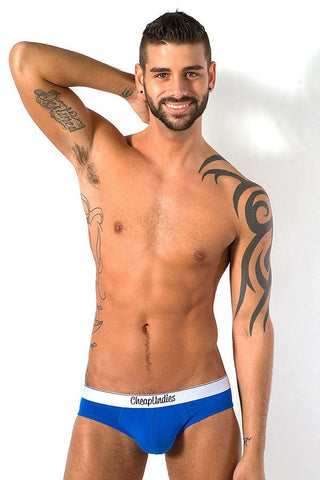 CheapUndies Blue Jock Brief