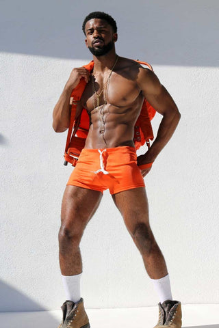 Rufskin Orange Esplanade Sport Short