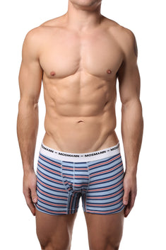 Mosmann Light Blue Striped Boxer