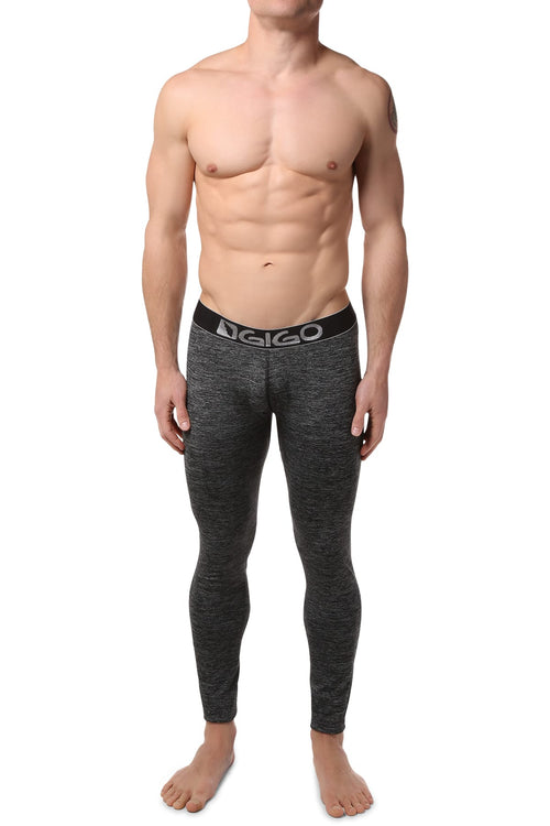 Gigo Grey/Black Racing Legging - CheapUndies.com
