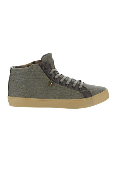 GBX Olive And Green Canvas Sneaker
