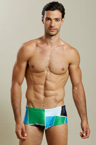 Skmpeez Green Blokz Euroz Swim Brief