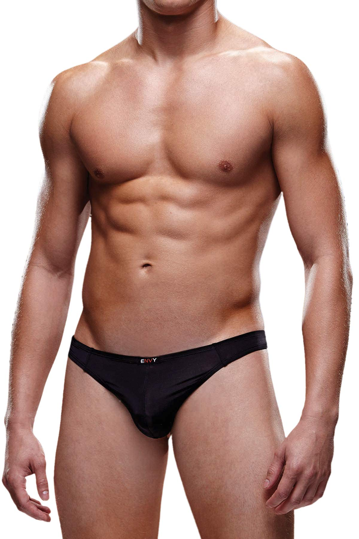 Envy Black Microfiber Thong
