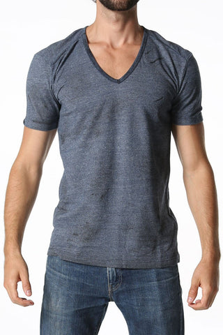 C-IN2 Denim Indigo Filthy V Neck Shirt