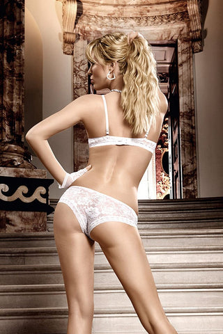 Baci White Flower Lace Bra With Underwire
