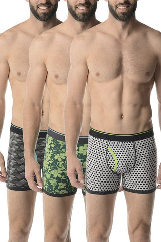 Bottoms Out Geo Hibiscus 3-Pack Trunk