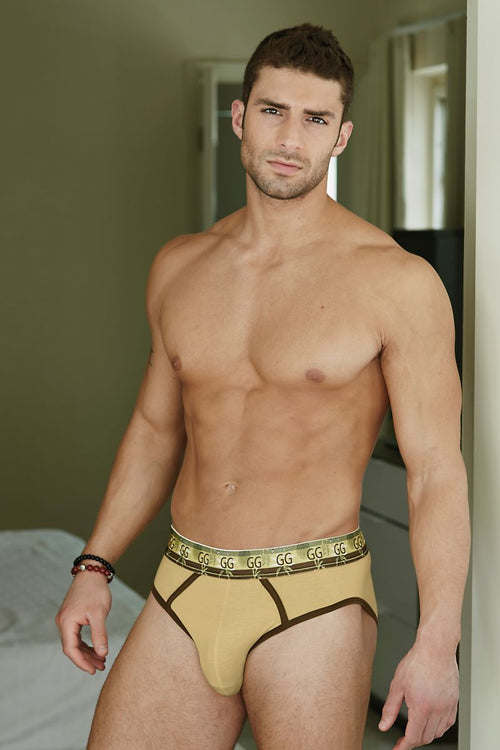 Gabriel Grey Straw Bamboo Brief - CheapUndies.com