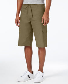 Sean John Men's Lightweight Linen Cargo Short