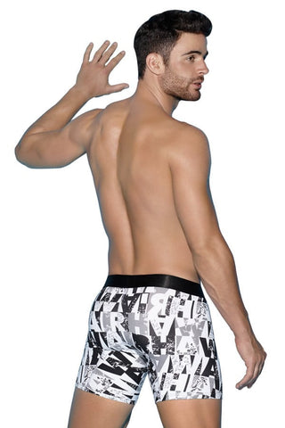 "Hawai White 12"" Graffiti Boxer Brief"