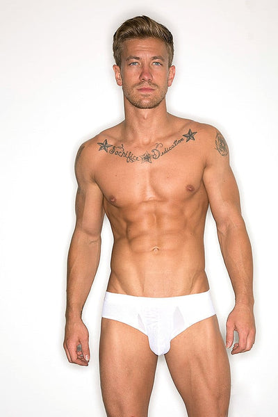 Freemen White Mesh Fly Brief
