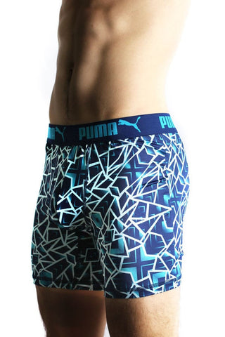 Puma Blue Shattered Pro-Stretch Boxer Brief