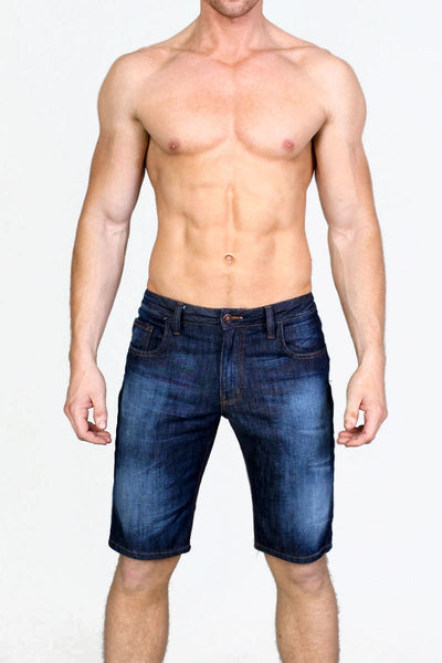 Timoteo Indigo Fade Ryan Denim Short - CheapUndies.com