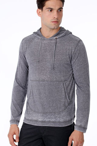 ONE90ONE Dark Grey Slim Fit Hoodie