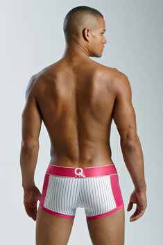BodyQ Hot Pink & White Sheer Stripe Trunk