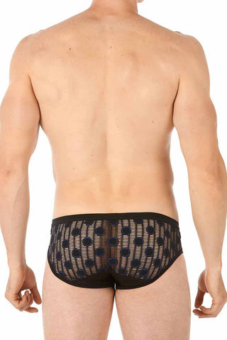 Gregg Homme Black Azure Jacquard Brief