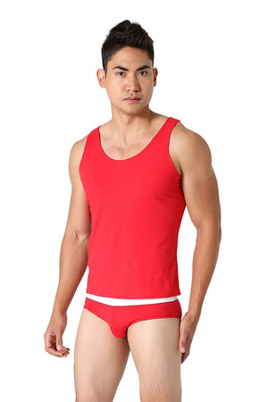 CheapUndies Red Primary Comfort Tank