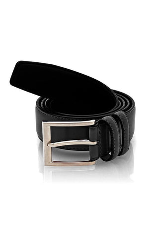 Umo Lorenzo Black Leather Belt