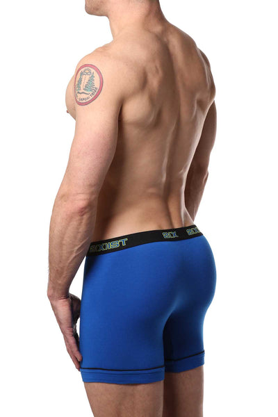 2(X)IST Lime & Blue Performance Cotton Boxer Brief 2-Pack