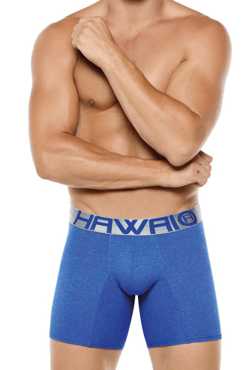 Hawai Blue Marled Boxer - CheapUndies.com