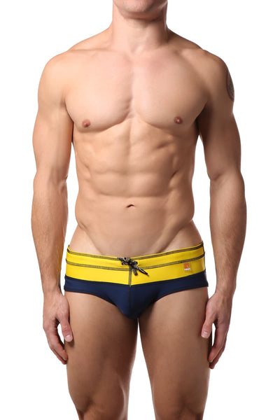 Gigo Blue & Yellow Bi-Colour Swim Brief - CheapUndies.com