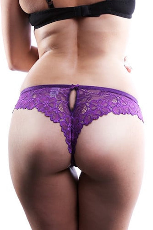 Jezebel Violet Lace Butterfly Thong - CheapUndies.com