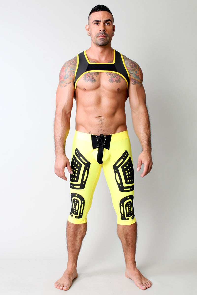 CellBlock 13 Yellow Lace Up Stryker Pant