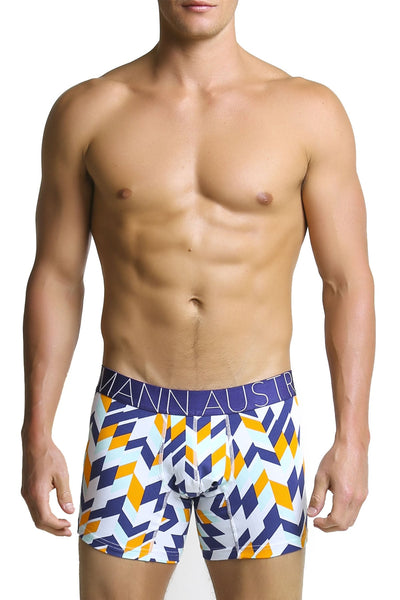 Mosmann Multi Print Orange Blade Boxer - CheapUndies.com