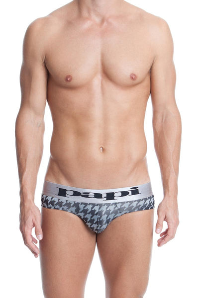 Papi Grey Rave Houndstooth Brief