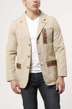 P.O.V. Tan Canvas Pablo Blazer