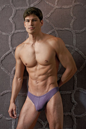Contour Purple Luxe Jersey Thong