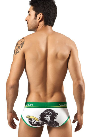 Clever White Banana Monkey Brief