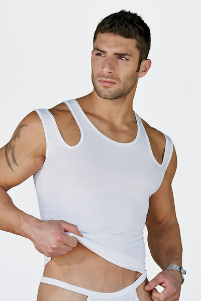 Extreme Collection White Fetish Tank - CheapUndies.com