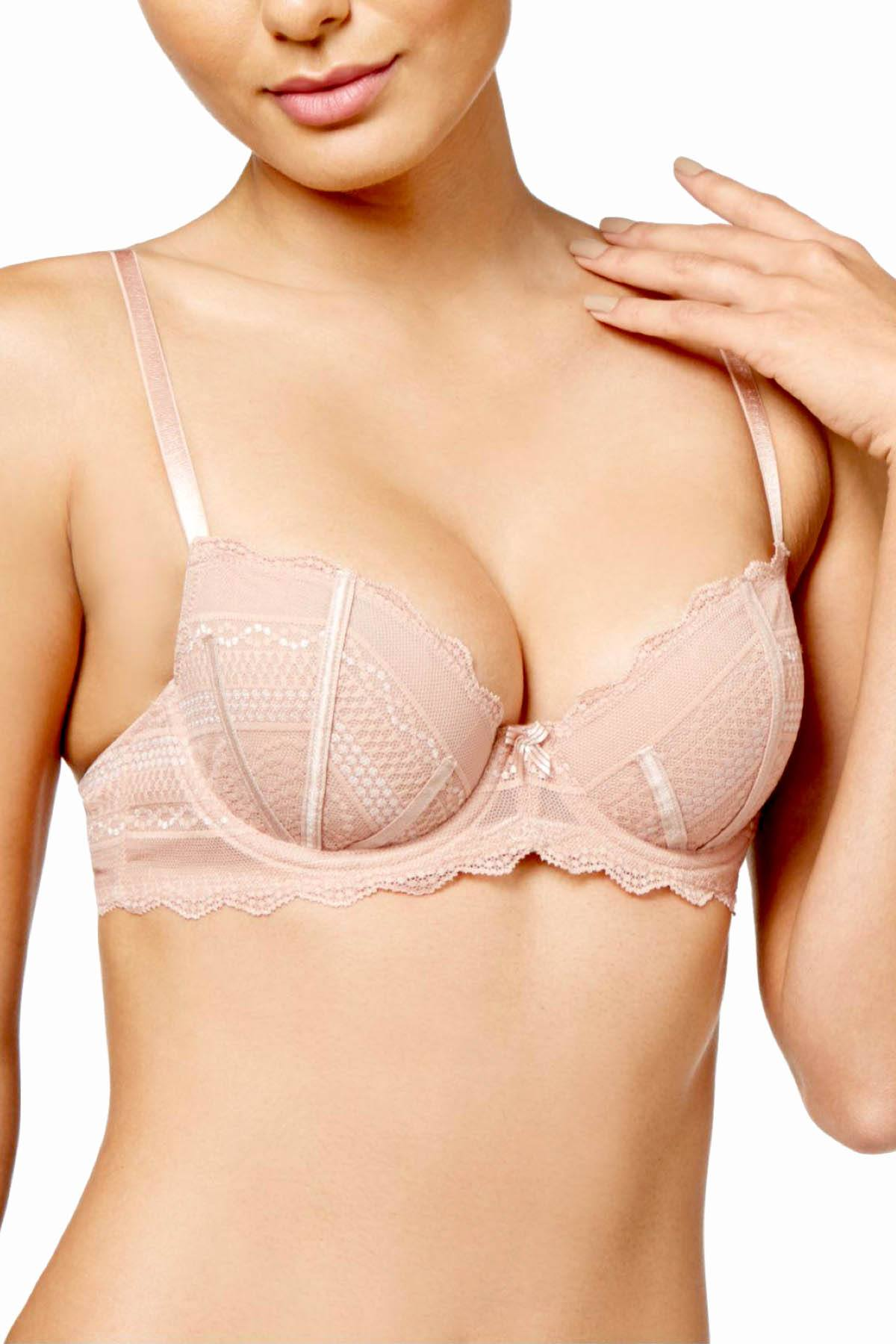 b.tempt'd Mahogany-Rose/Nude b.cherished Lace Bra