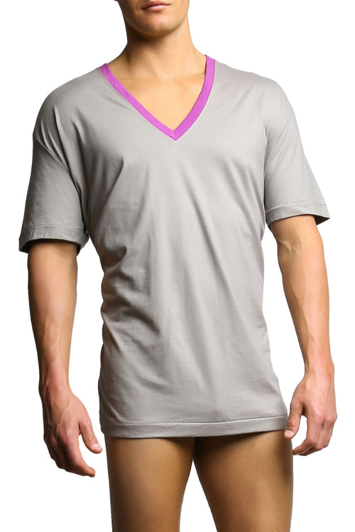 C-IN2 Winter Wheat Color Pop V-Neck - CheapUndies.com