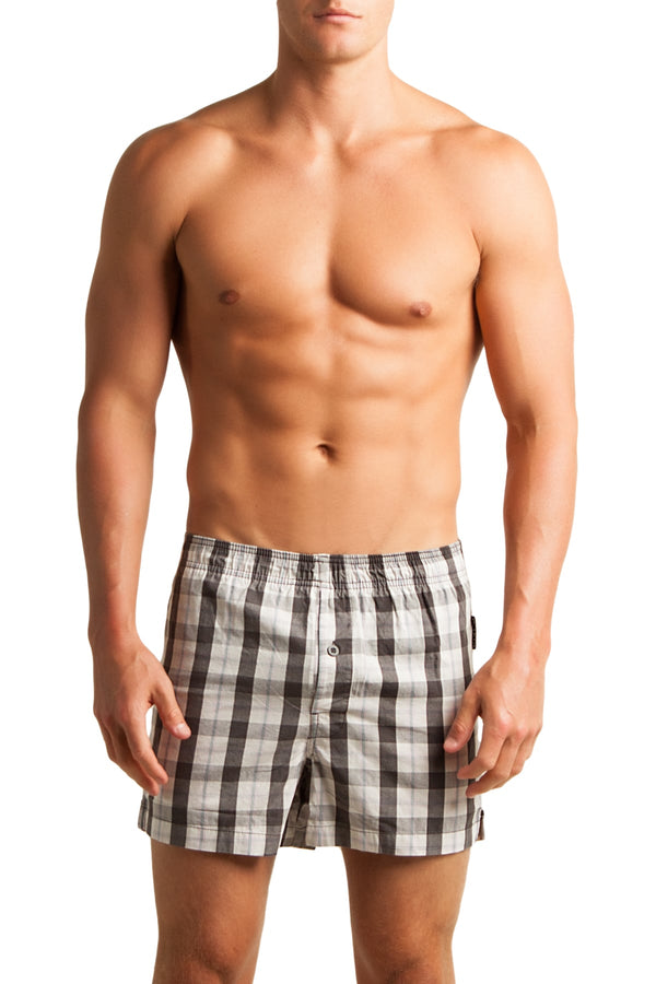 C-IN2 Graph Grey Woven Plaid Boxer - CheapUndies.com