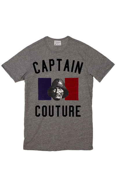 Rxmance Heather Grey Captain Couture Crew Tee - CheapUndies.com