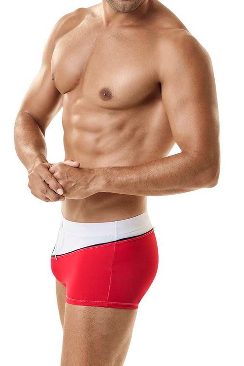 WildmanT Red Captin Swim Square Trunk - CheapUndies.com